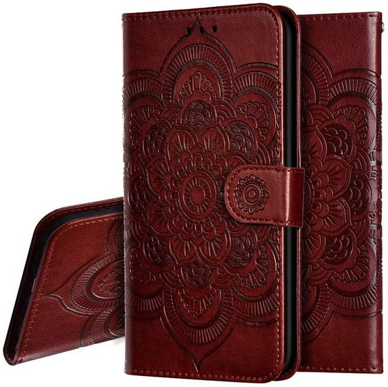 Oopkins Mandala Embossed Flip Wallet Case galaxy s21 plus flip case cover