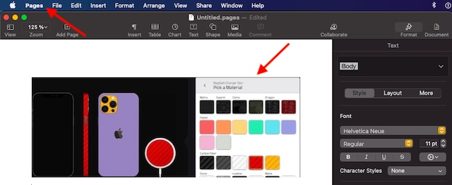Paste the image in another application