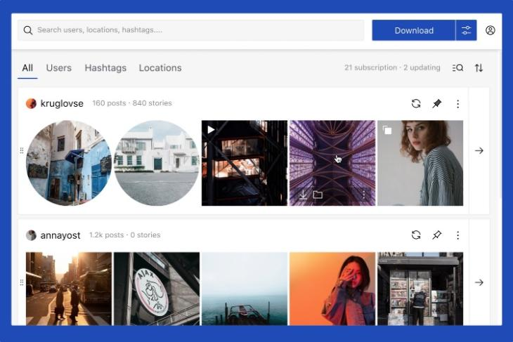 Qoob Stories- View and Download Instagram Stories, Photos, and Videos