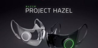 Razer project hazel mask with RGB and voice projection