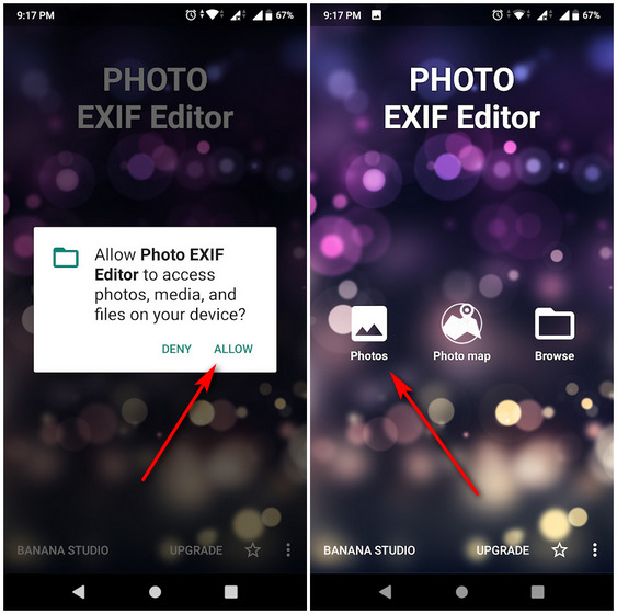Remove EXIF data Android