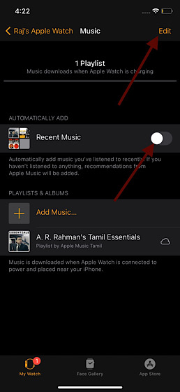 Désactiver la synchronisation automatique d'Apple Music