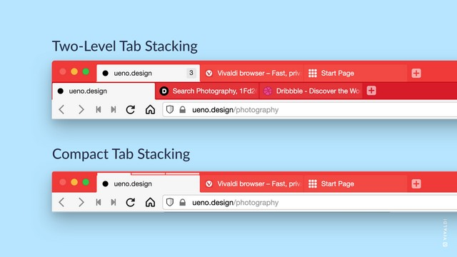 Vivaldi intorduces two level tab stacks