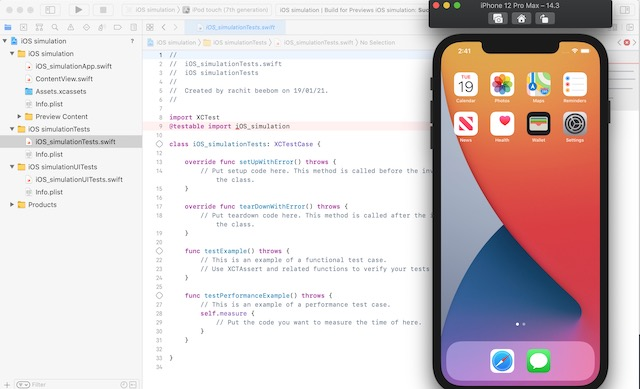 Xcode Simulation for iPhone
