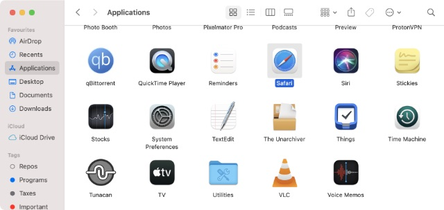 application universelle apple m1