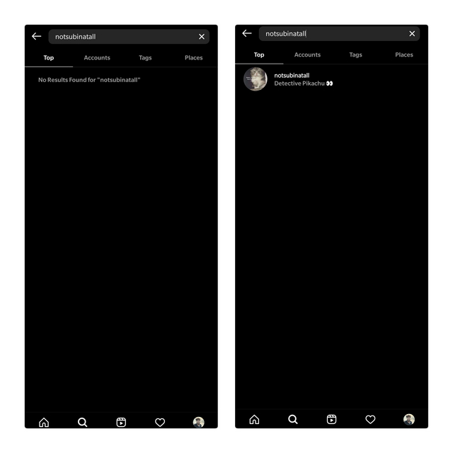 blocked vs unblocked in instagram search