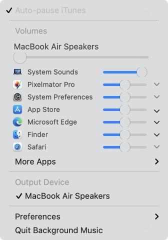 control individual app volume m1 mac