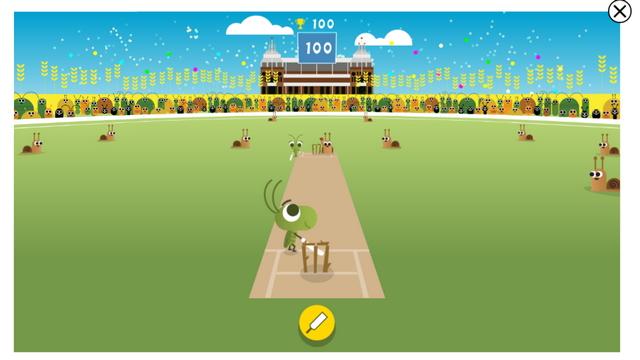 крикет Google Doodle Game