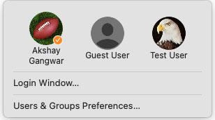switch user in mac with fast user switching