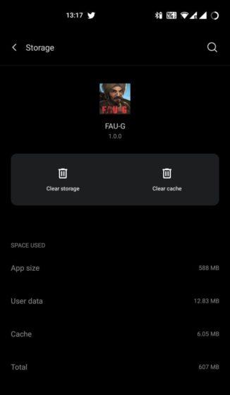 fau-g download size 2