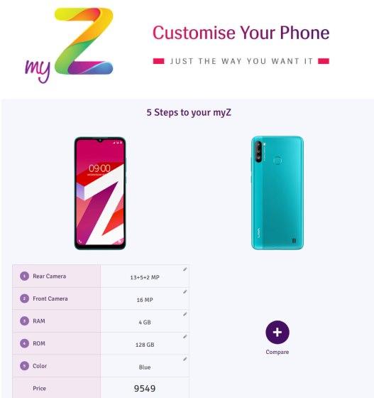 lava my z phone customization