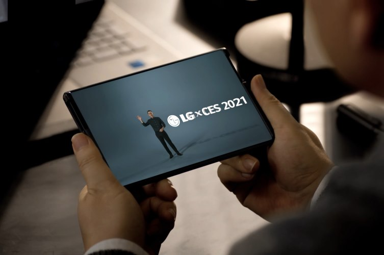 LG Rollable Phone Shown off at CES 2021