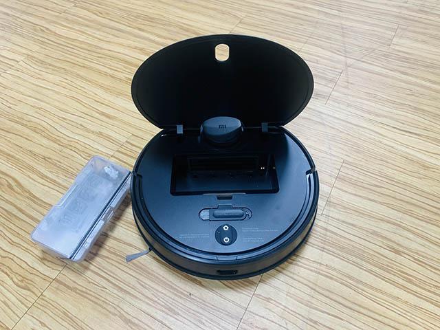 mi robot vacuum dust compartment