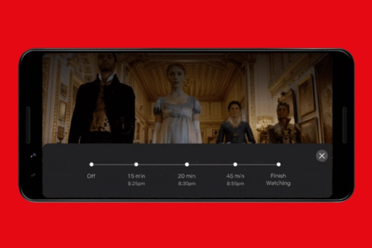 Netflix testing sleep timer button on Android