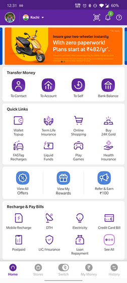 phonepe home page