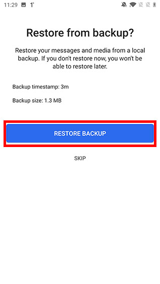 restore signal chat backup