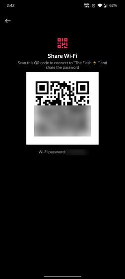 wi-fi qr code page