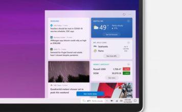 windows 10 taskbar news and weather