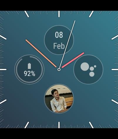 9. Analog Watch Face