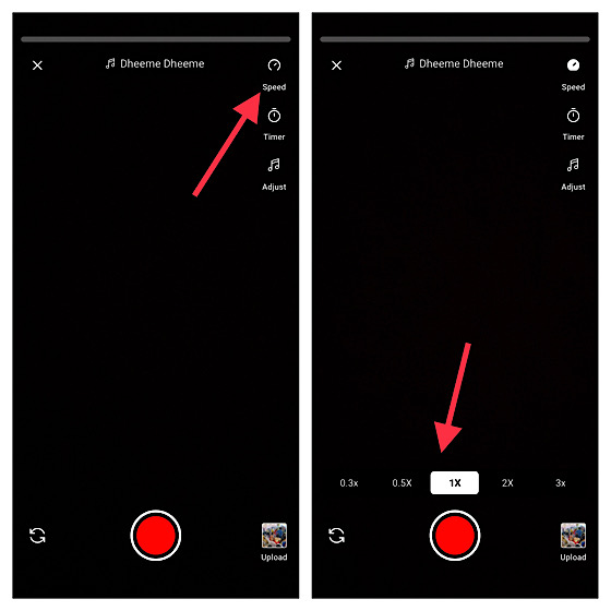 Adjust speed of Shorts video