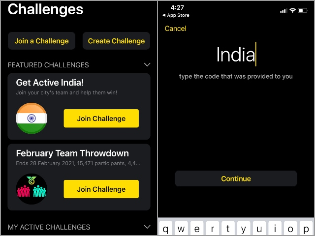 Apple Watch Get active india challenge