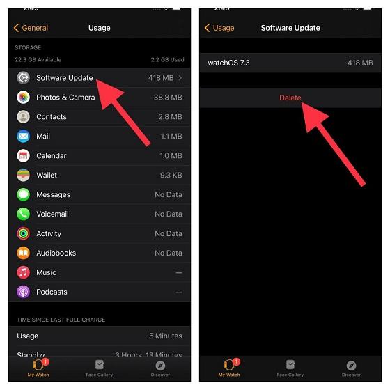 Apple Watch stuck at software update