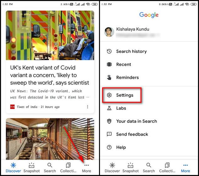 Изменить голос и язык Google Ассистента