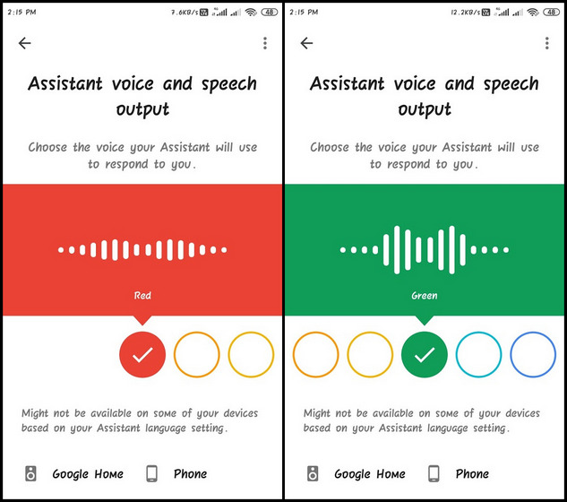 Change Google Assistant Voice and Language