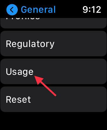 Choose Usage option