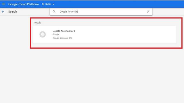 API de l'Assistant Google à partir de la bibliothèque d'API