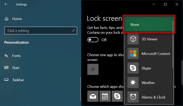 change notification settings Disable Notifications on Windows 10 lock screen