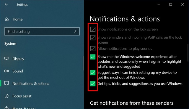 change notification settings