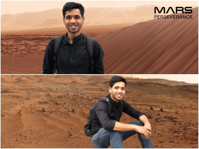 Mars perseverance photo booth