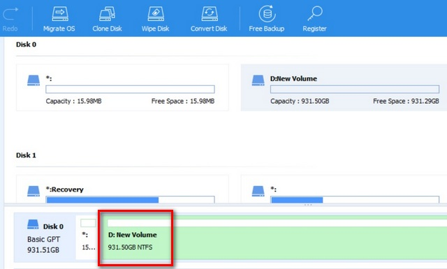combine Multiple Hard Disk Partitions in Windows 10
