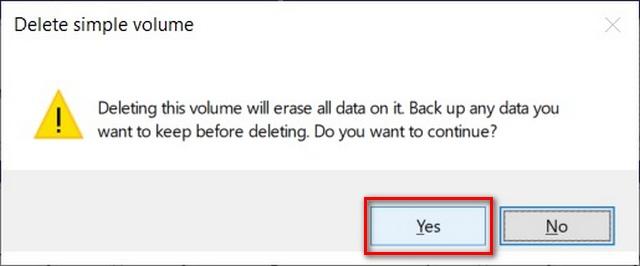 confirm disk merging