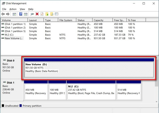 Combine Hard Disk Partitions