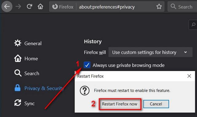 Open Mozilla Firefox, Google Chrome, Microsoft Edge Chromium in Private Incognito Mode