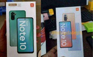 Redmi Note 10 retail box reveals design and specs