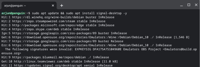 Install Signal on a Chromebook (2021)
