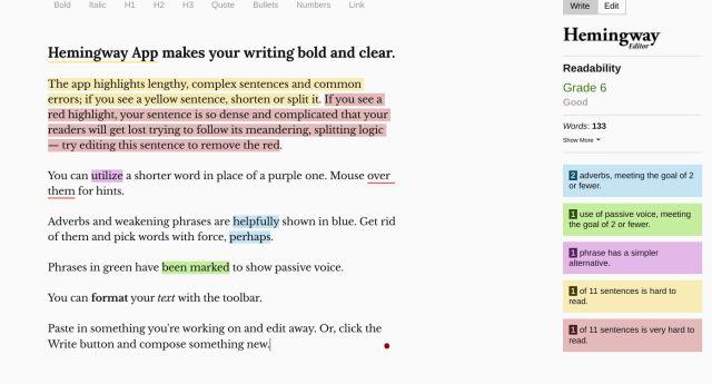 5. Hemingway Editor