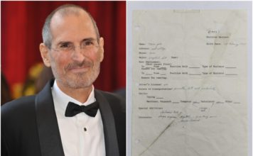 Apple co-founder Steve jobs hand written job application feat.