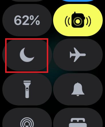 Tap on the Do Not Disturb button