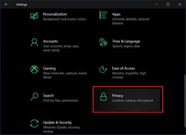 Disable background apps