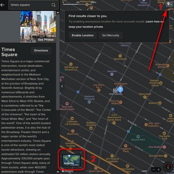 Apple Maps on DuckDuckGo