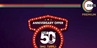 Zee5 anniversary offer 50% discount annual plan