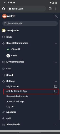 Disable 'Open in App' Popup on Reddit (2021)