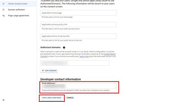 ajouter les informations de contact du développeur