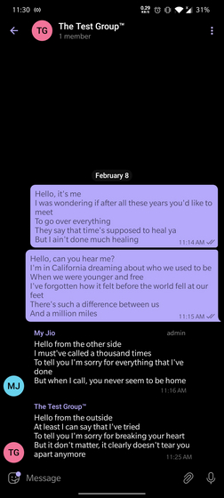 anonymous group message telegram