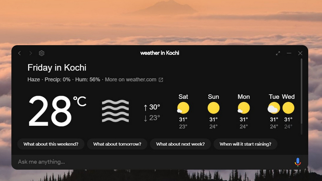 check weather assistant client