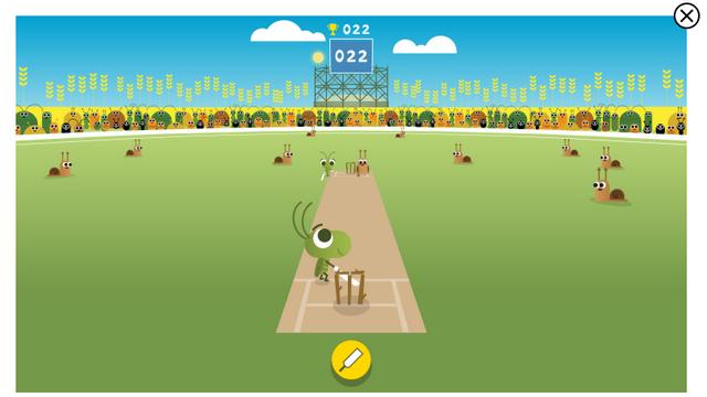 cricket google doodle sport game